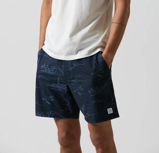 Load image into Gallery viewer, BANKS JOURNAL // Ty Williams Calypso Boardshort // Dirty Denim