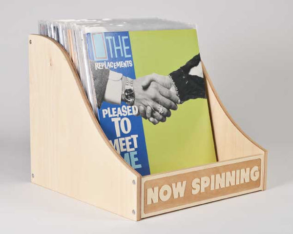 VINYL RECORD STORAGE // Now Spinning Bin Curved Sides A