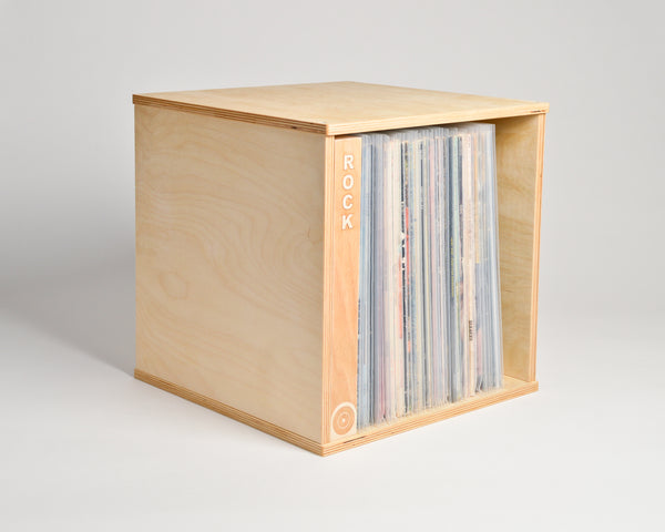 Vinyl Record Cube - shelf oriented with inline divider -  Airwood Design