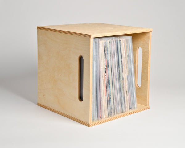 Deep Groove Record Crate - shelf oriented - filled - Airwood Design