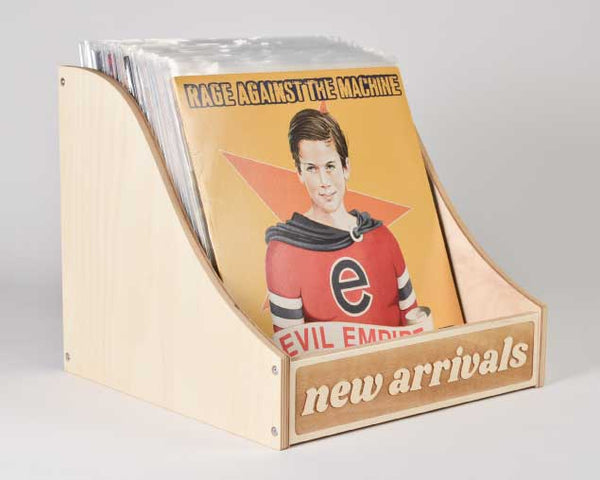 VINYL RECORD STORAGE // New Arrivals Bin Curved Sides B