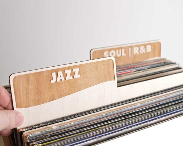 Vinyl Record Dividers // Genre Set of 10 (block font)
