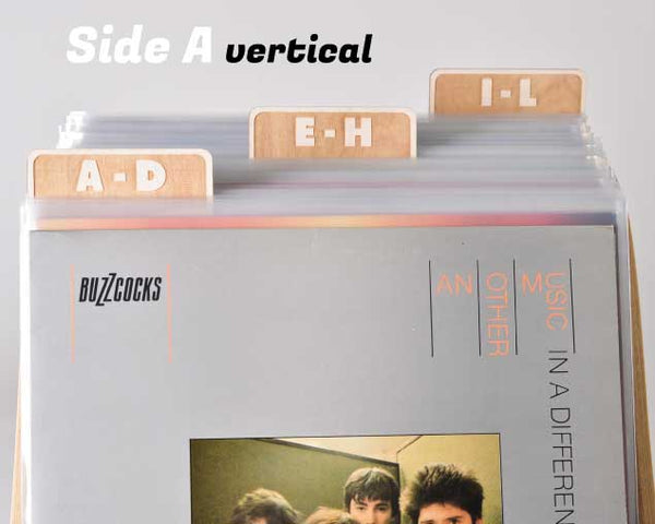Vinyl Record Dividers // A-Z Rectangle Tab Set of 6 (block font)