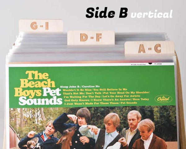 Vinyl Record Dividers // A-Z Rectangle Tab Set of 9 (block font)