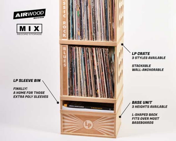VINYL RECORD STORAGE // Now Spinning Bin Curved Sides B