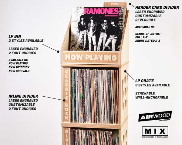 VINYL RECORD STORAGE // Now Playing Bin Straight Sides A