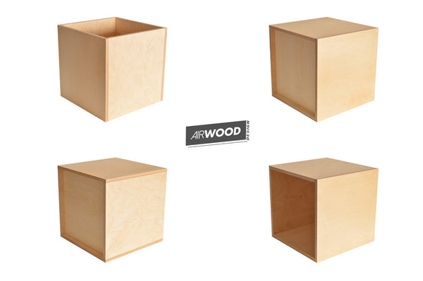 Vinyl Record Cube Crate 4up by Airwood Design