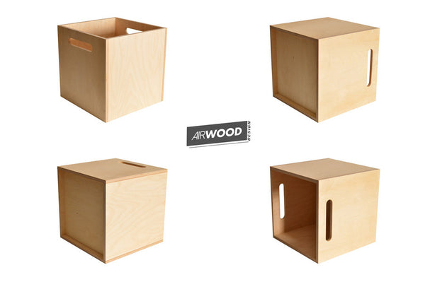 Deep Groove Vinyl Record Crate by Airwood Design 4up