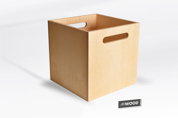 Deep Groove Vinyl Record Crate by Airwood Design