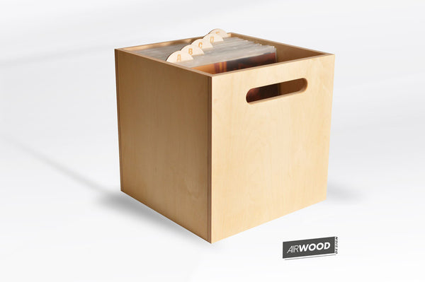 Deep Groove Vinyl Record Crate with LP Dividers by Airwood Design