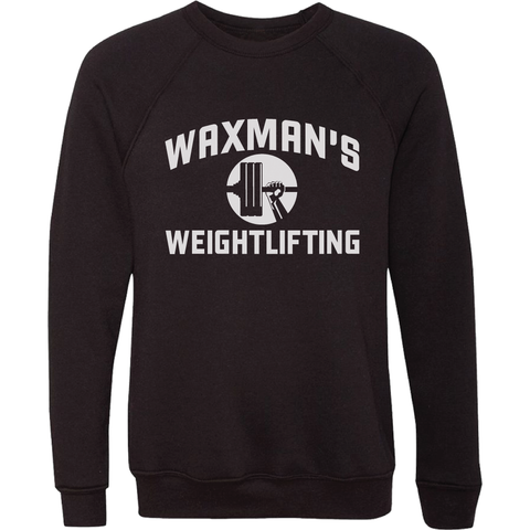 NEW: Black Crewneck Sweatshirt - Unisex - Waxman's Gym