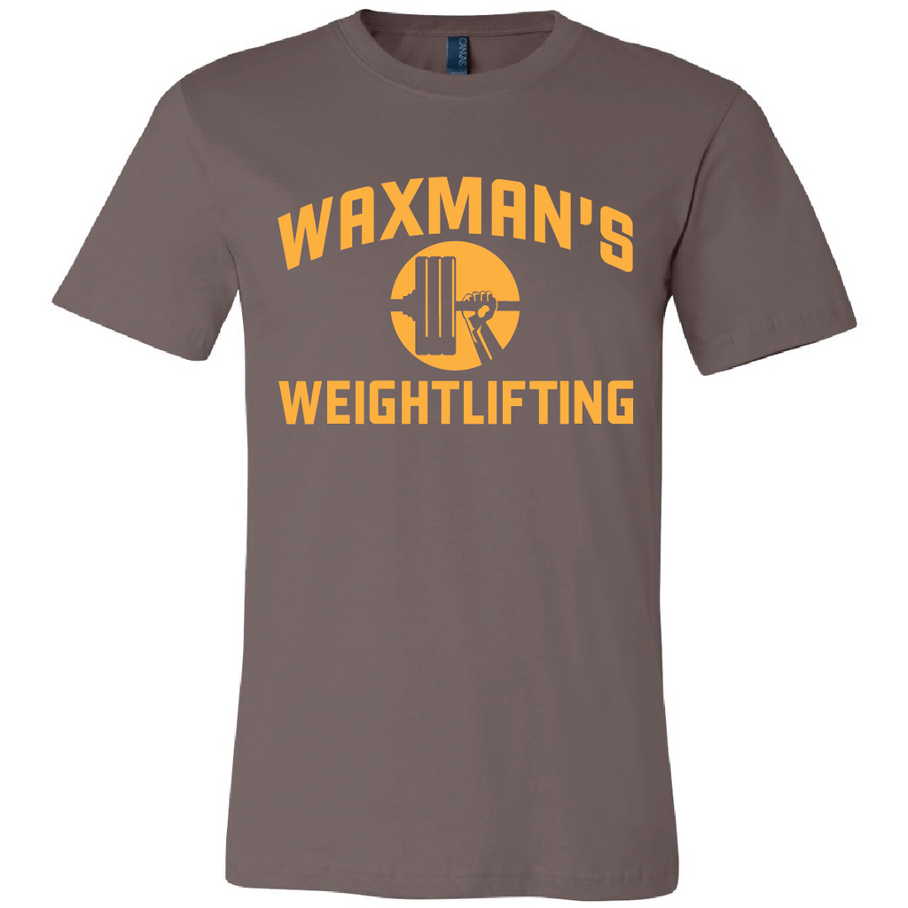 New: Waxman's Weightlifting Unisex T - Brown - Waxman's Gym