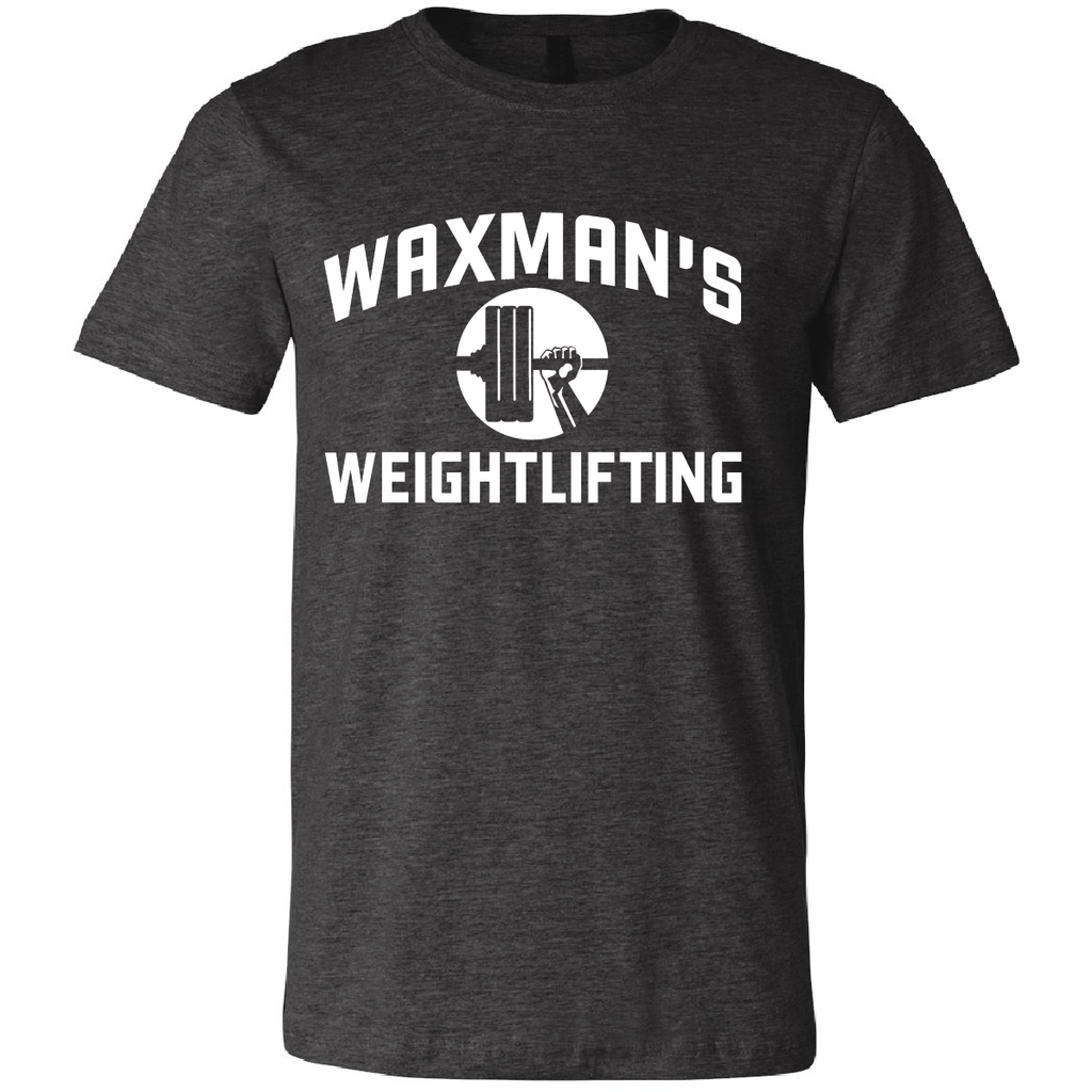 New: Waxman's Weightlifting Unisex T - Dark Heather - Waxman's Gym