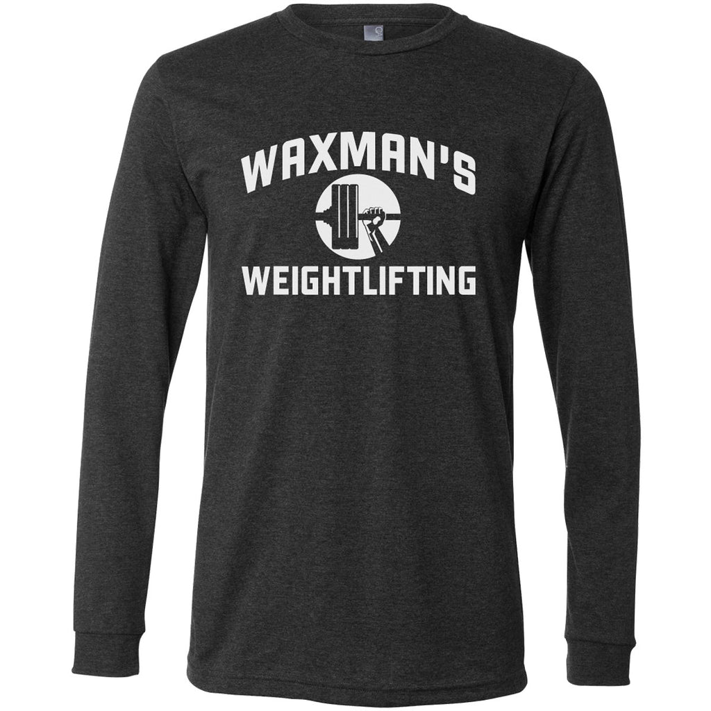 Waxman's Weightlifting Dark Heather Long Sleeve Training Shirt - Unisex - Waxman's Gym
