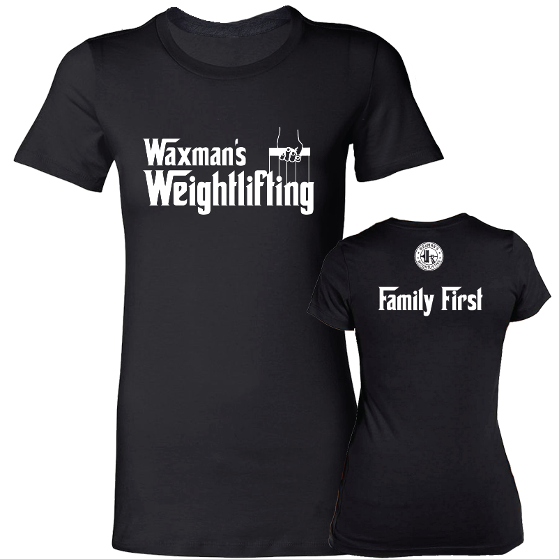 Women's Godfather T-shirt Black - Waxman's Gym
