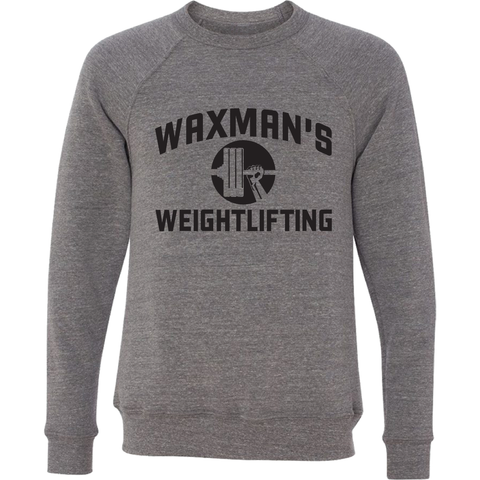 NEW: Grey Crewneck Sweatshirt - Unisex - Waxman's Gym