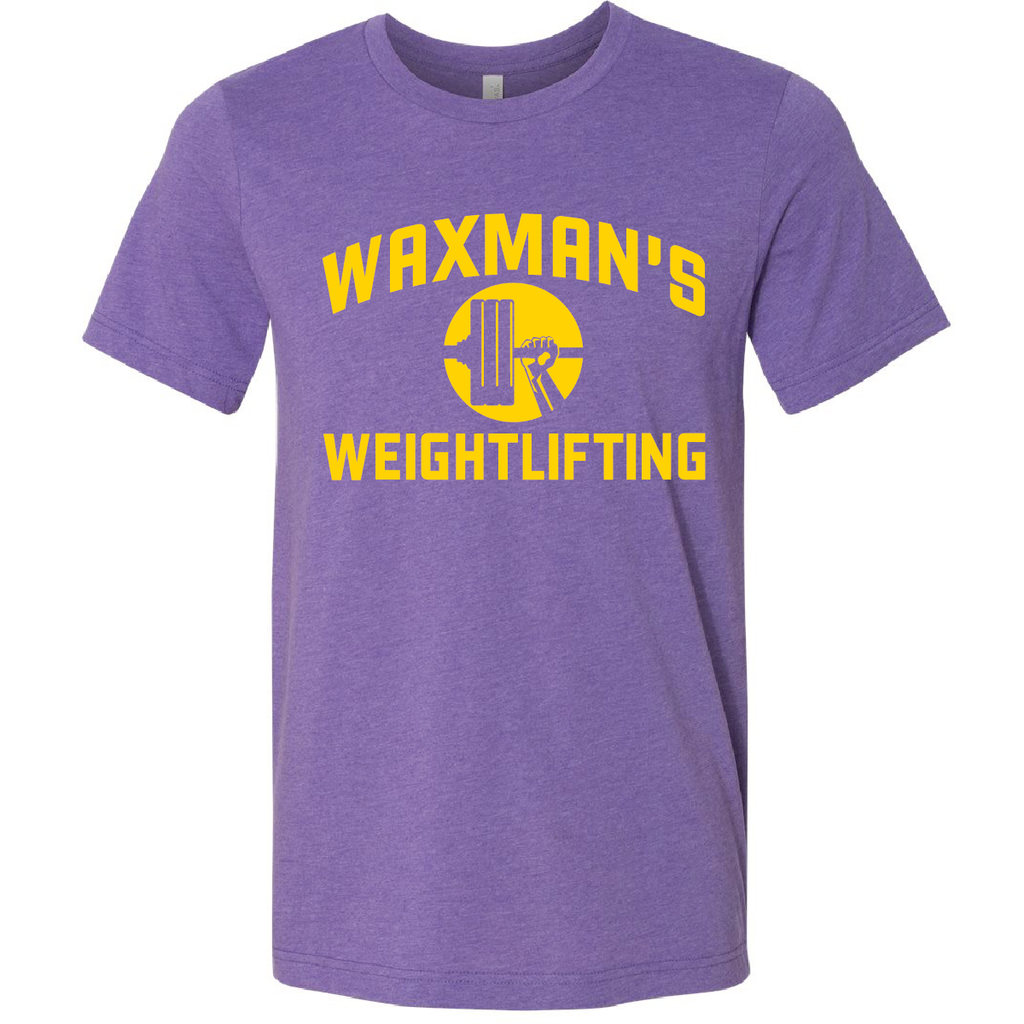 New: Waxman's Weightlifting Unisex T - Heather Purple - Waxman's Gym