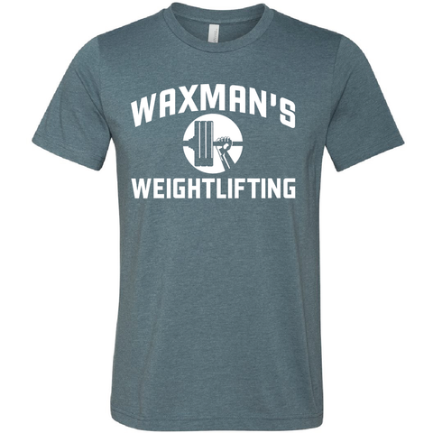 New: Waxman's Weightlifting Unisex T - Heather Slate - Waxman's Gym