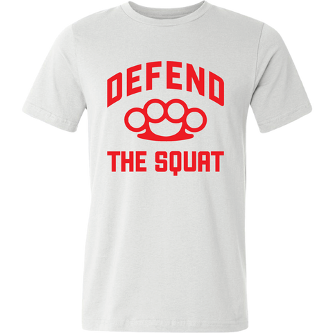 Men's Defend the Squat T-Shirt White - Waxman's Gym