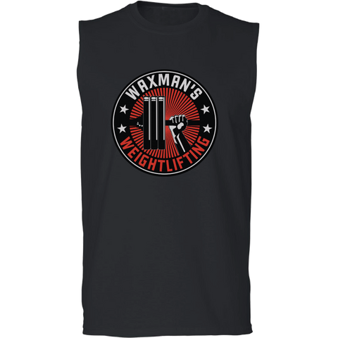 Men's Logo Sleeveless Tee Black - Waxman's Gym