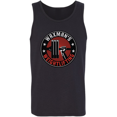 Men's Logo Tank Black - Waxman's Gym