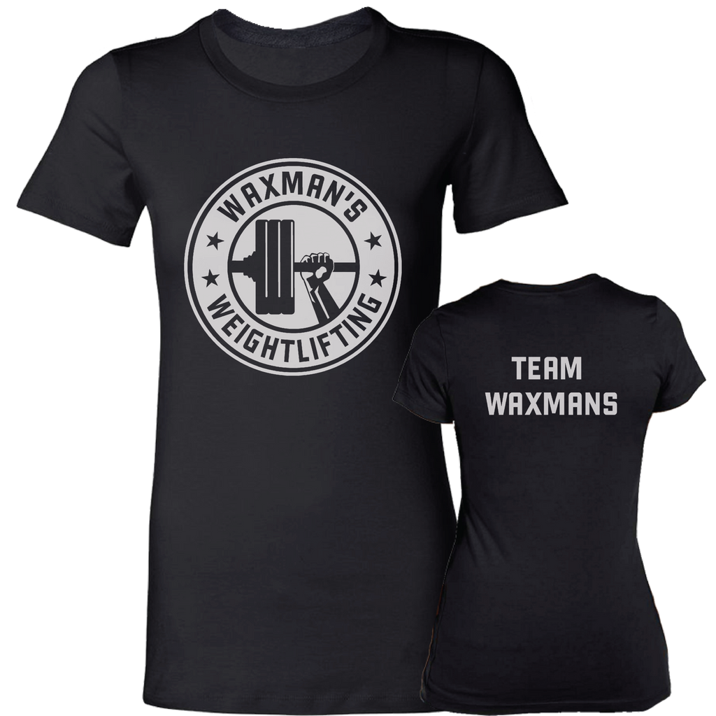 Women's TEAM WAXMANS Official Shirt Black - Waxman's Gym