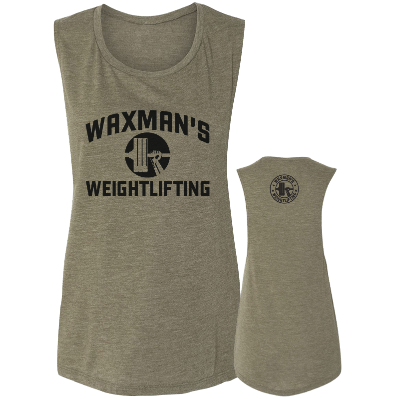 Waxman's Weightlifting Women's Muscle Tank - Olive Green - Waxman's Gym