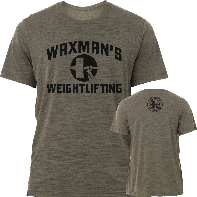 Waxman's Weightlifting Men's T-Shirt - Olive Green - Waxman's Gym