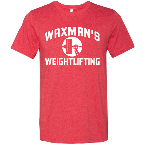 New: Waxman's Weightlifting Unisex T - Heather Red - Waxman's Gym