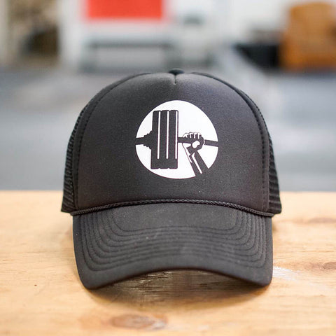 All Black Snapback Logo Hat - Waxman's Gym