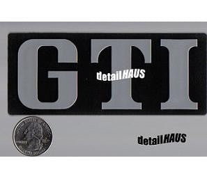 Silver/Chrome GTI Badge