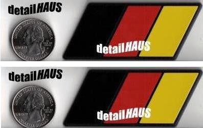 Set of 2 - German Flag Racing Euro Badges