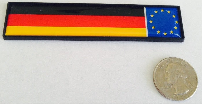 German Flag EU Racing  Euro Badge