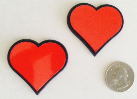 2 Pack of Heart Badges