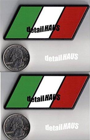 Set of 2 - Italian Flag Racing Euro Badge