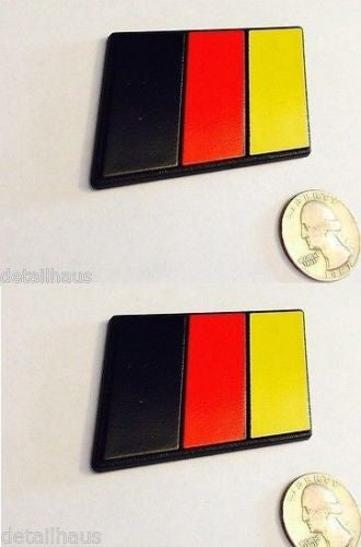 Set of 2 - German Flag Racing Euro Badges - Medium Size