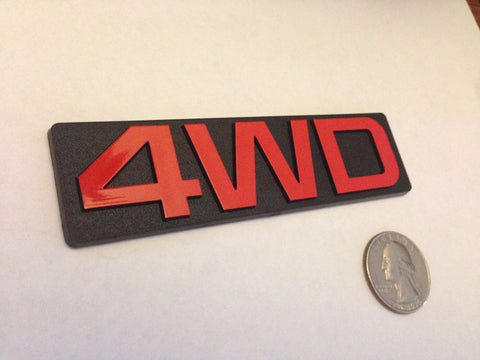 Red 4WD Badge