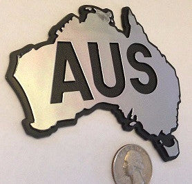 Silver/Chrome Australia AUS Country Badge