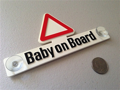 Baby on Board - Suction Cup Placard