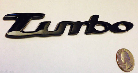 Black Turbo Badge - CLOSEOUT