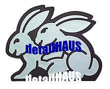 Silver/Chrome Bunny Rabbits Badge