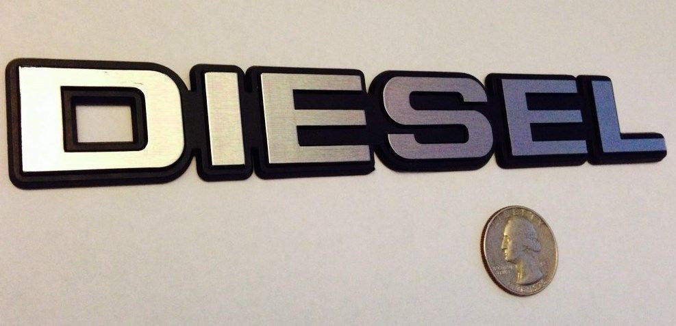 Silver/Chrome Diesel Badge