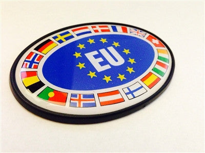 Oval EU Flags Badge