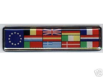 European Union Multi Flag Euro Badge