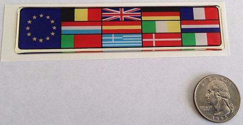 European Union Multi Flag Euro Soft Badge