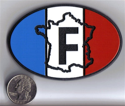 Oval France F Badge