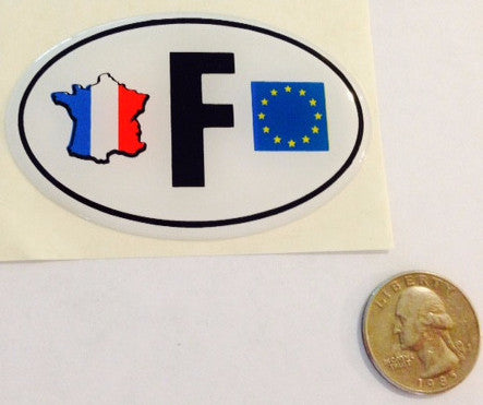 Soft Oval France F Badge with EU and Country Flag