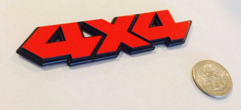 Red 4X4 Badge