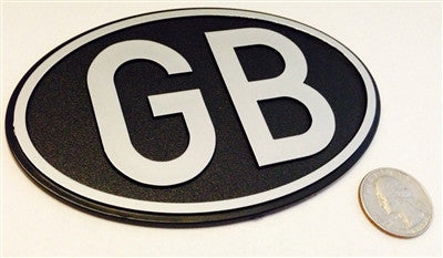 Large Oval Black Great Britain - GB Country Badge