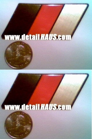 Set of 2 - German Flag Racing Euro Badge (BRG - Black, Red, & Gold)